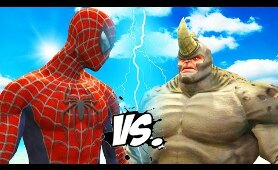 Spider-Man vs Rhino - Epic Superheroes Battle